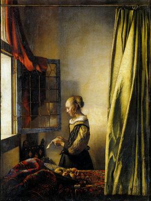 フェルメール 窓辺で手紙を読む女