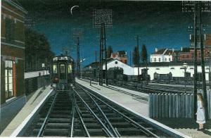 ポール・デルヴォー 夜汽車