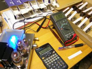 1626真空管 実際のアンプでプレート電流測定