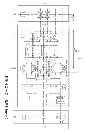 6DJ8-1626アンプ シャーシ加工CAD図(PNGファイル)