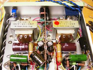 NEW 6DJ8-1626アンプ ハンダ付け作業 (9)