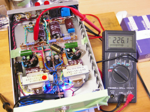NEW 6DJ8-1626アンプ B電圧を測定