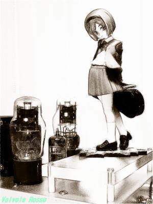 1626真空管 グッスマ ヘンリエッタ FotoSketcher 鉛筆スケッチ画