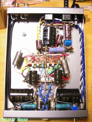 試作FETハイブリッドμフォロワE90CCパラ真空管ヘッドフォンアンプ内部写真
