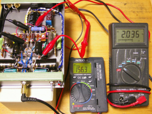 ハイブリッドμフォロワE90CC零号機(改) 各部の電圧測定