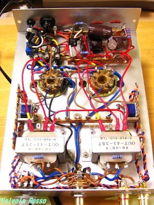 19AQ5ヘッドフォンアンプ改造版 内部レイアウト