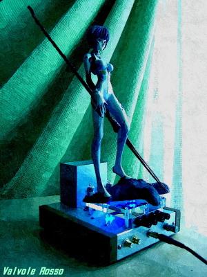 海洋堂 新世紀エヴァンゲリオン 綾波レイ、ロンギヌスの槍Ver. FotoSketcher油彩画バージョン