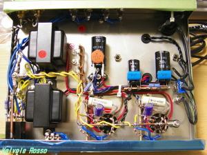 春日無線6AU8シングル真空管アンプ改造 内部レイアウト