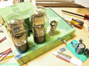 6DJ8-33シングル真空管アンプ 製作中