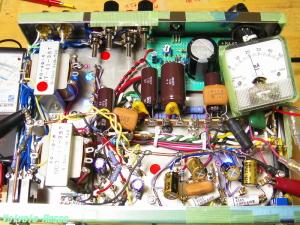 6DJ8-33シングル真空管アンプ 内部レイアウト