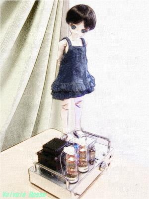 HY65シングルアンプ PARABOX Pちゃん40cm 色鉛筆画