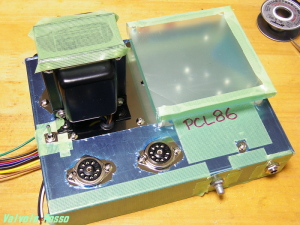 PCL86アンプ 部品配置は独自設計です。