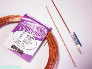 φ2mm径の銅線と#20番手の銅線