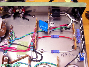 電源平滑回路、ヒーター配線のハンダ付け