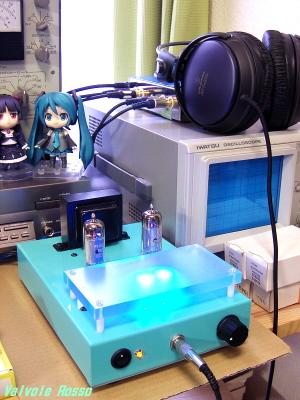 E81Lヘッドフォンアンプ(KA-20SH)とライントランス ATH-A900で試聴
