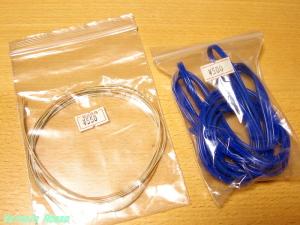 絹巻き単線ウエスタン・ケーブルと謎の青色コード