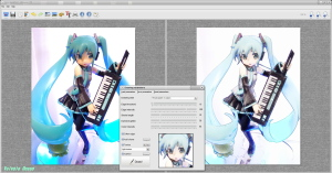 FotoSketcher Ver.2.10 MAXFACTORY HATSUNE MIKU ACTION FIGURE COLOR PENCIL VERSION