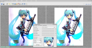 FotoSketcher Ver.2.10 MAXFACTORY HATSUNE MIKU ACTION FIGURE WATER PAINTING VERSION