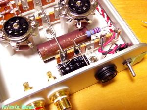 WE408A hybrid Headphone Amplifier 電源部電解コンデンサーのハンダ付け