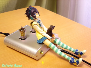 WE408A hybrid Headphone Amplifier (Tube Headphone Amplifier) PLUM 1/8 Scale Pre-painted PVC Figure PARA-SOL Miu Yatabe