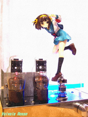 6DJ8-1626 Single Ended Amplifier (Tube Headphone Amplifier) ALTER 1/8 Scale Pre-painted PVC Figure The Melancholy of Haruhi Suzumiya Haruhi Suzumiya Uniform Ver. WATER PAINTING