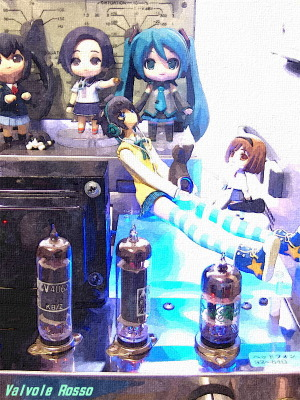 12AT7-A2134(CV4062)-6X4 Single Ended Amplifier (Tube Headphone Amplifier) PLUM 1/8 Scale Pre-painted PVC Figure PARA-SOL Miu Yatabe WATER PAINTING