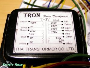 ラジオ少年電源トランスT-3V (旧品種) 現在は250Vタップ廃止になっています!