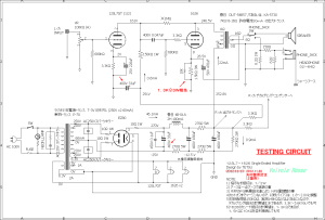 12SL7-1626-EZ80 Single Ended Amplifier (Tube Headphone Amplifier) testing circuit 回路図
