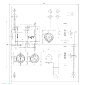 YM-250シャーシ加工図 (MT9ピン・サブシャーシ版)