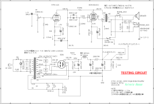 5755-6CH6-EZ80 Single Ended Amplifier (Tube Headphone Amplifier) testing circuit 回路図