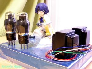 PLUM 谷川柑菜を真空管アンプの上に飾るには、トロイダル・トランスにしてシャーシに内蔵(!)するしかなさそうです。。。(汗