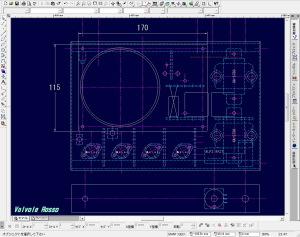 CADにて、アクリルディスプレイ寸法を検討中。。。