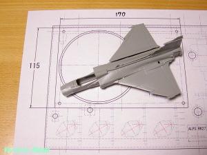 タミヤ 1/72 ウォーバードコレクション JAS-39グリペンを仮組してみた。