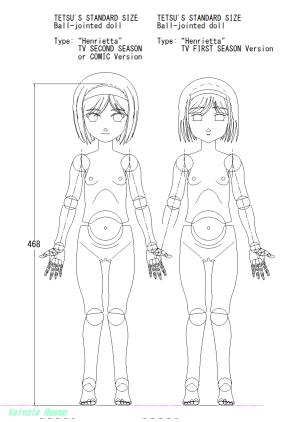 テツさんが計画している球体関節人形 ヘンリエッタモデル 新旧比較