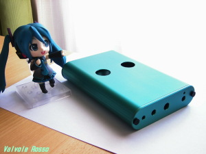 WE408A hybrid Headphone Amplifier (Tube Headphone Amplifier) TAKACHI MXA3-11-16S COLOR-ALUMITE Emerald Green (= MIKU HATSUNE COLOR)