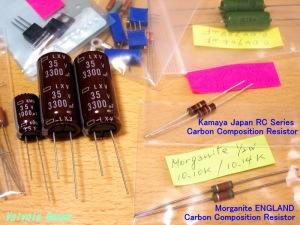 Morganite ENGLAND & Kamaya Japan RC Series Carbon Composition Resistor