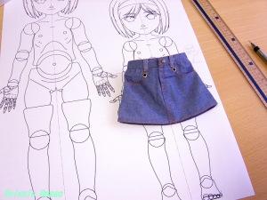 40cm用スカートとか履かせると上半身のボリュームがなくなる。。。(汗