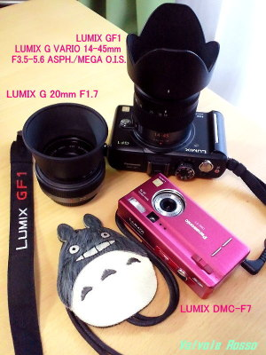Panasonic LUMIX GF1 LUMIX G VARIO 14-45mm F3.5-5.6 ASPH./MEGA O.I.S. LUMIX G 20mm F1.7 LUMIX DMC-F7