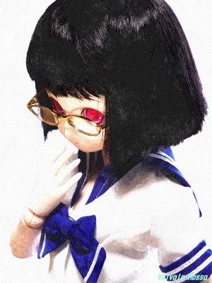 FotoSketcher WATER PAINTING Panasonic LUMIX GF1 LUMIX G VARIO 14-45mm F3.5-5.6 ASPH./MEGA O.I.S. PARABOX 40cmボディ、Aiちゃん彩色済ヘッド、アニメベーシックアイ光彩Bピンク、メタルフレーム眼鏡(ゴールド)、前下がりボブ・ヘアカット加工ウィッグ(ブラック)、40cm用夏セーラー