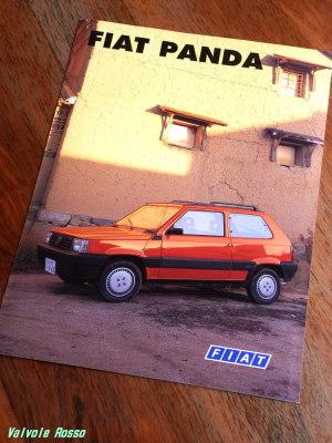 FIAT PANDA のカタログ(1996年版?)