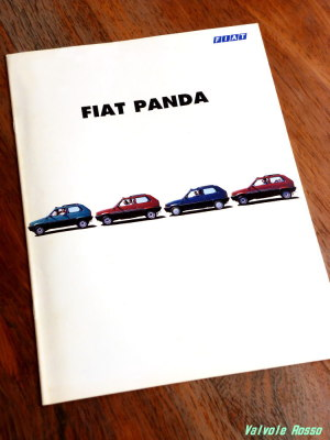 FIAT PANDA のカタログ(1998年最終モデル版?)