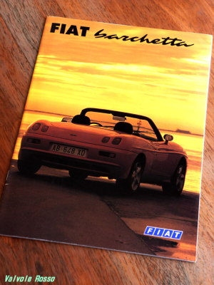 FIAT Barchetta のカタログ(1995年版?)