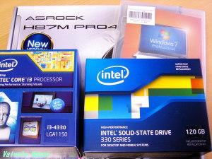 Intel Core i3 4330 BOX ASRock H87M Pro4 Intel SSD 330 SSDSC2CT120A3K5 Windows7 Professional SP1 (DSP)