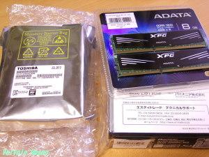 Pioneer BDR-208BK/WS バルク品 ADATA AX3U1600GC4G9-2G TOSHIBA DT01ACA200