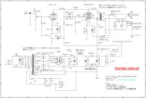 5755-6CH6(CV4055)-EZ80 Single Ended Amplifier (Tube Headphone Amplifier) using Full-Wave Vacuum Rectifier testing circuit 両波整流管を使用した6CH6(CV4055)真空管アンプ回路図