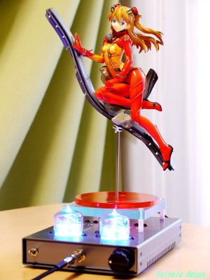 Panasonic LUMIX GF1 LUMIX G VARIO 14-45mm F3.5-5.6(焦点距離90mm相当)で撮影 ALTER 1/8 Scale Pre-painted PVC Figure Evangelion 2.0 Shikinami Asuka Langley Test Type Plug Suit Ver. TESLA RC5B VISHAY IRF610 hybrid Headphone Amplifier (Tube Headphone Amplifier)