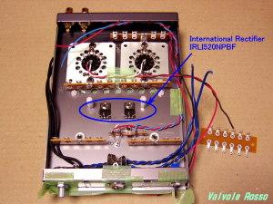 ソケットをMT9ピンにしたら International Rectifier IRLI520NPBF を取り付けます。