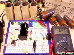 JAN CRC 6V6GTY 450mA ハイブリッドμ(ミュー)フォロワ+定電流負荷 の実験 ヒーター電圧