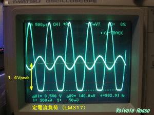 EL32 負荷8Ω LM317定電流の場合の出力電圧