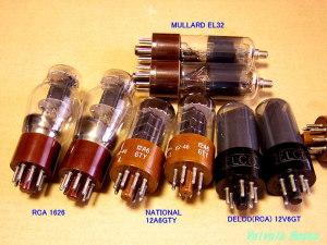 今回製作したアンプでは、EL32/1626/12A6GT/12V6GTなどが使用できます!